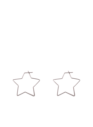 Iman Little Star Earrings in Silver
