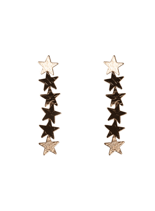 Iris Stars Constellation Earrings in Gold