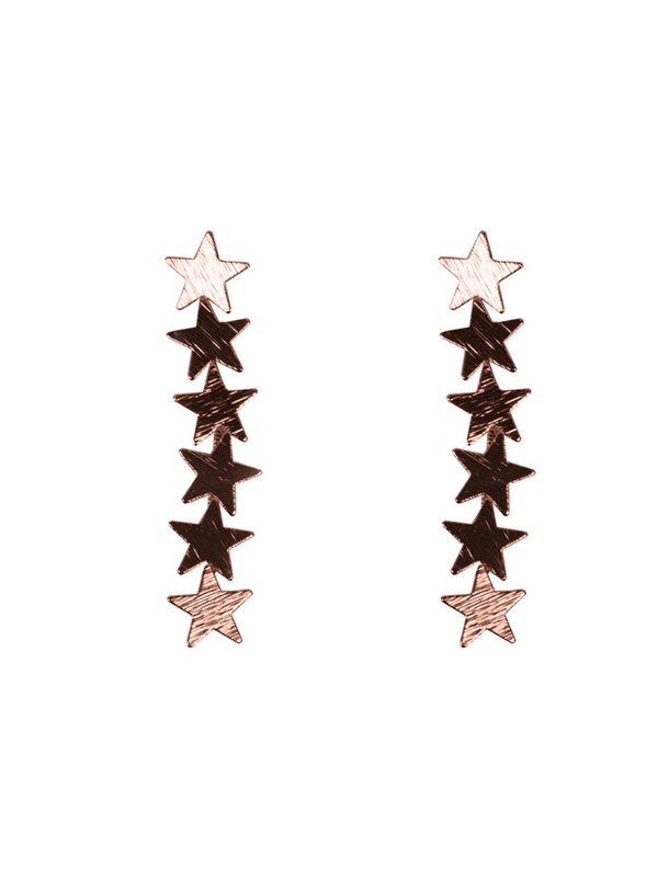 Iris Stars Constellation Earrings in Rose Gold