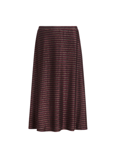 Juno Travolta Stripe Skirt in Bronze Brown from King Louie