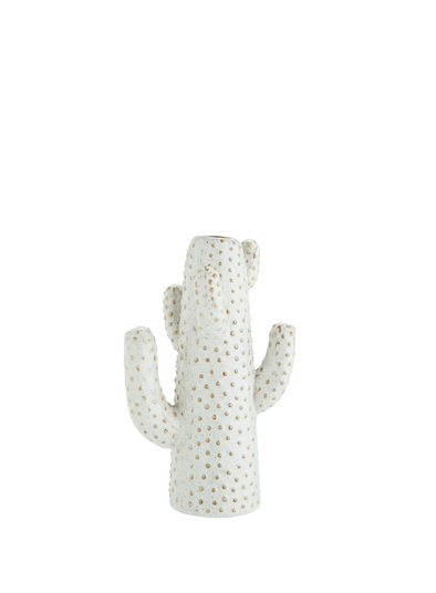 Large Cactus Vase in White from Madam Stoltz