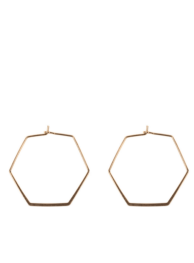 Large Iro Septagon Earrings in Gold