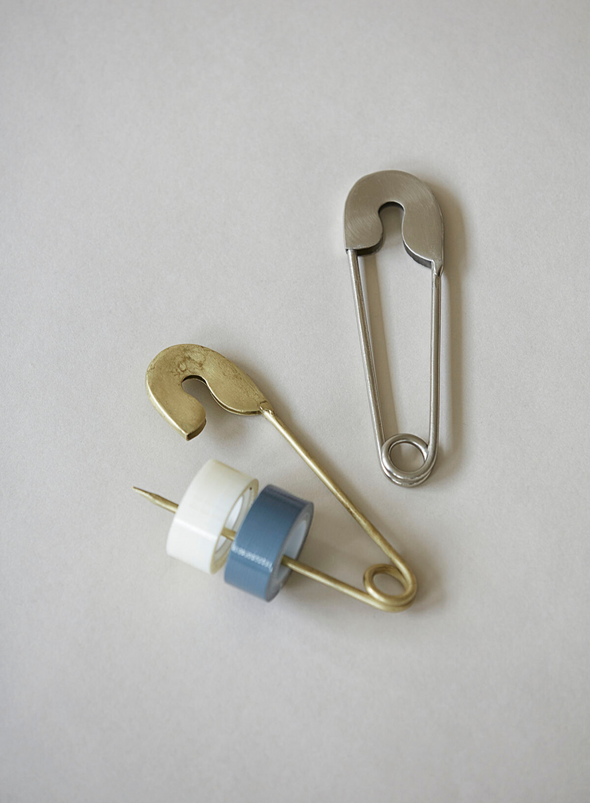 Large Safety Pin - Brass, From Monograph