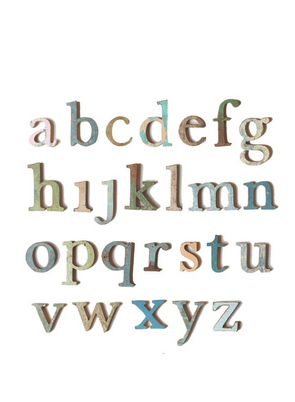 Wooden Lowercase Letter