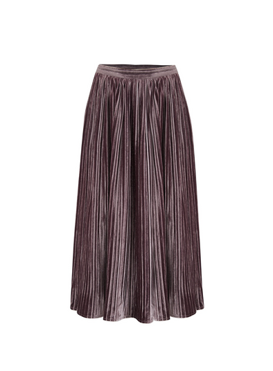 Lynette Velvet Pleated Skirt from Sugarhill
