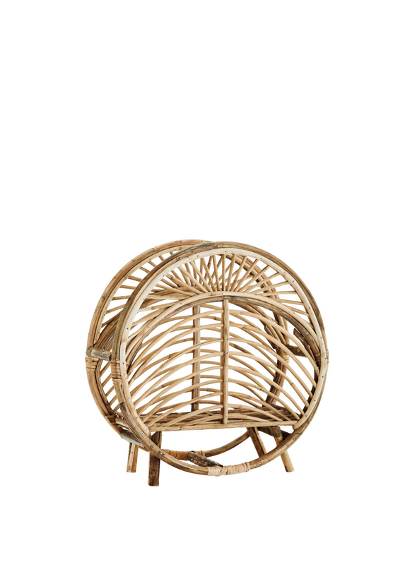 Bartlett Round Cane Magazine Rack From Madam Stoltz