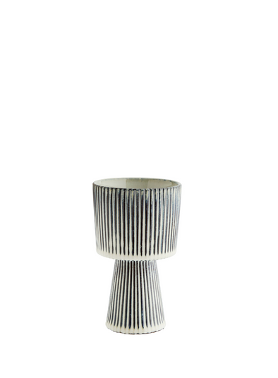 Medium Striped Flower Pot from Madam Stoltz