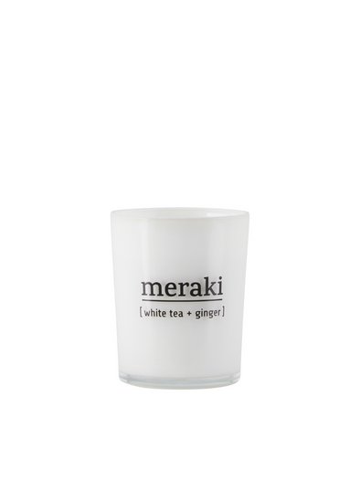 Mini Scented Candle - White Tea & Ginger From Meraki