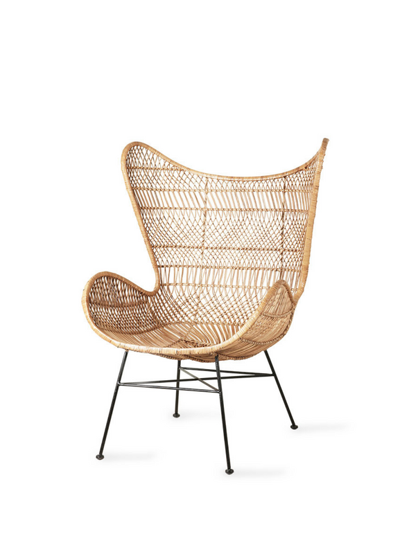 Natural Rattan Bohemian Egg Chair from HK Living