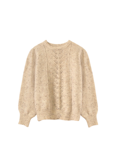 Norene Beige Pull on Sweater from Frnch