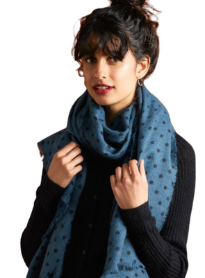 Pablo Scarf in Pond Blue from King Louie
