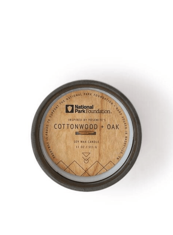 Parks Yosemite Cottonwood & Oak Candle from Paddywax