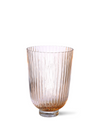 Peach Glass Ribbed Vase from HK Living