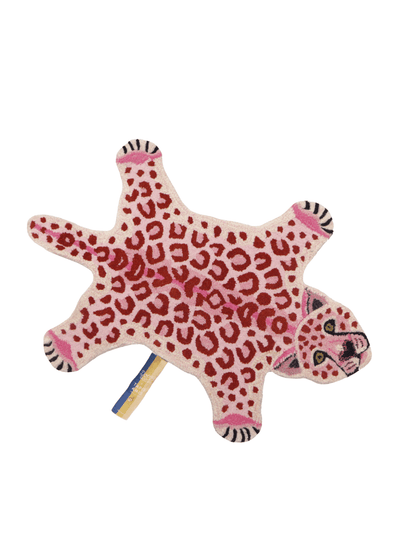 Pinky Leopard Small Wool Rug