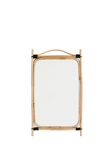 Rectangular Mirror With Bamboo Frame from Madam Stoltz