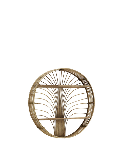 Coso Round Rattan Shelf From Madam Stoltz
