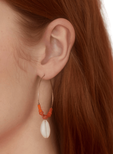 Shell & Coral Crystal Earring from Nice Things