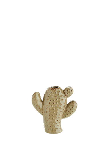 Small Cactus Vase in Beige from Madam Stoltz