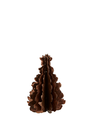 Small Concertina Paper Pulp Christmas Tree - Copper