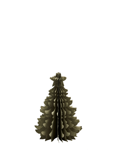 Small Concertina Paper Pulp Christmas Tree - Green