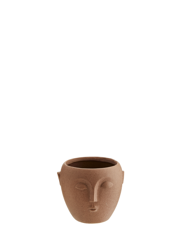 Small Matt Terrocotta Face Pot from Madam Stoltz