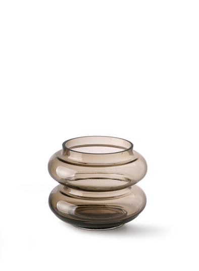 Smoked Brown Small Glass Vase from HK Living