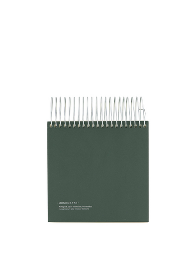 Large Spiral Notebook - Green From Monograph