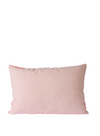 Striped Velvet Cushion in Red & Pink from HK Living