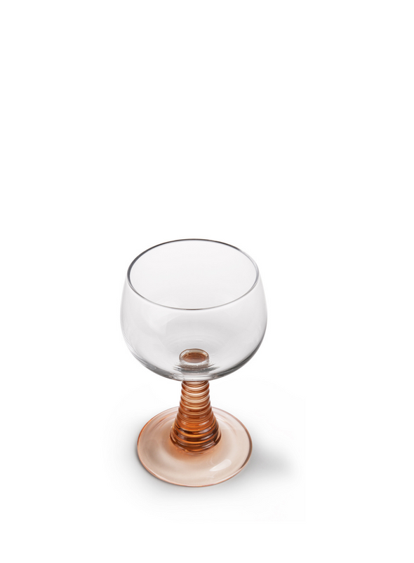 Swirl Nude Wine Glass from HK Living