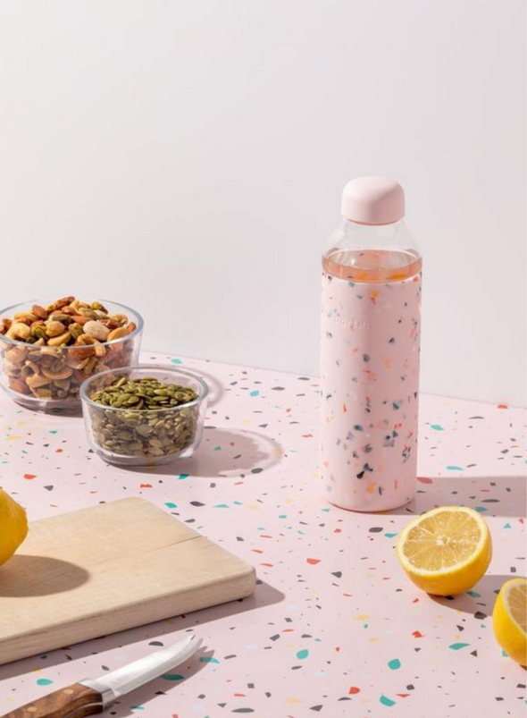 The Porter Water Bottle - Terrazzo Blush