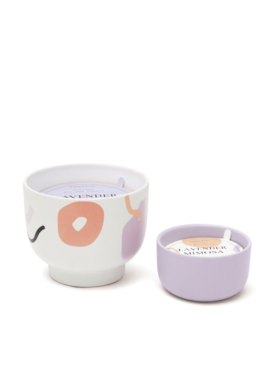 Wabi Sabi Lavender Mimosa Candle from Paddywax