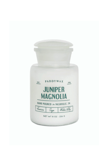 White Apothecary Juniper Magnolia Candle from Paddywax