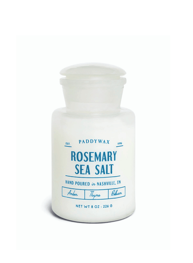 White Apothecary Rosemary Sea Salt Candle from Paddywax
