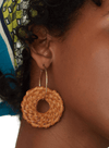 Wicker Natural Ring Earrings from Nice Things