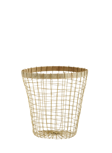 Wire Basket with Wood Trim from Madam Stoltz