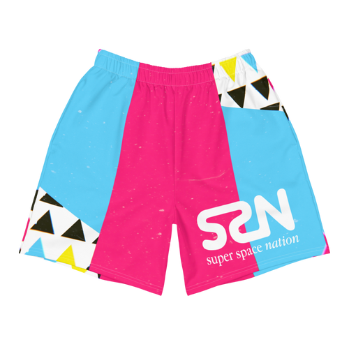 Super Space Nation - Long Athletic Shorts
