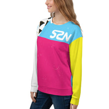 Load image into Gallery viewer, Super Space Nation - CMYK Cut + Sew Unisex Sweatshirt
