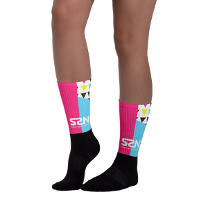 Super Space Nation - CMYK Unisex Socks