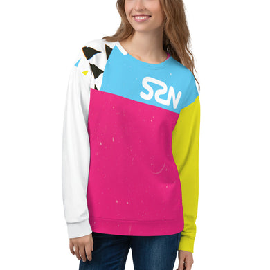 Super Space Nation - CMYK Cut + Sew Unisex Sweatshirt