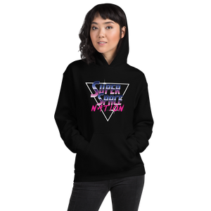 Super Space Nation - Retro Future Triangle Unisex Hoodie