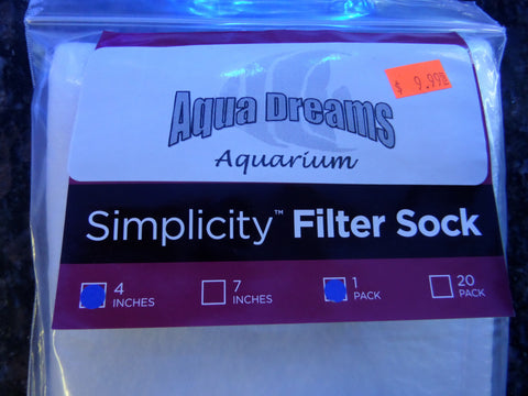 Aqua Dreams Filter Sock 4""
