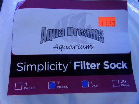 Aqua Dreams Filter Sock 7""