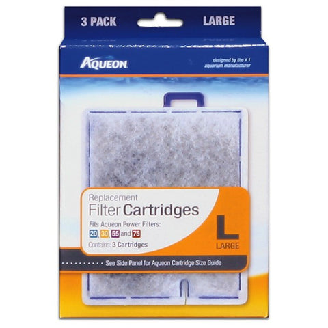 Aqueon Filter Cartridges LRG 3-Pk