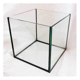 "Deep Blue Rimless 12"" Cube Aquarium"