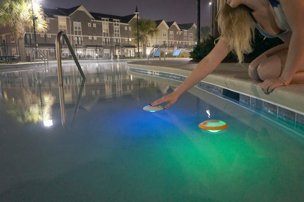 Cosmo The Floating Waterproof Bluetooth Speaker With LED Color Changing Lighting Effects