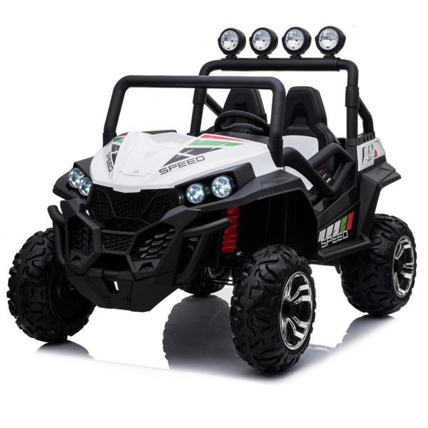 48V MOTOR POWER MEGA BEAST  WITH RUBBER TIRES AND LEATHER SEATS RIDE ON CAR