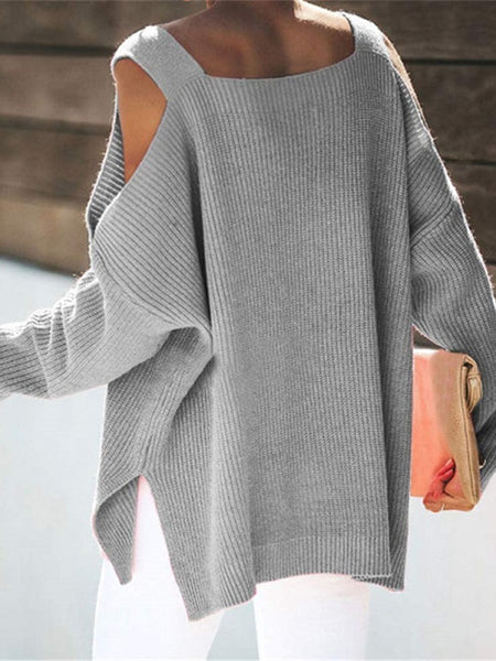 cold-shoulder-solid-loose-sweater