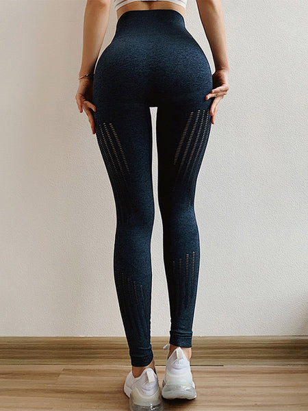 High Waist Tight-fitting Hip-lifting Hollow Leggings
