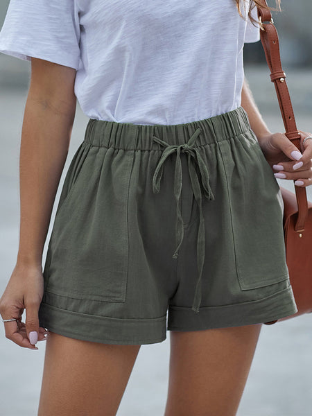 High-Waist-Drawstring-Pockets-Shorts