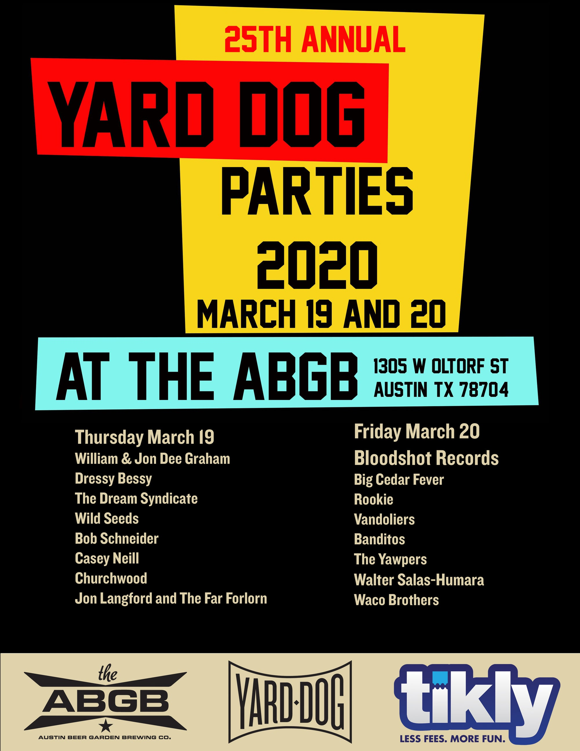 Yard Dog Parties 2020